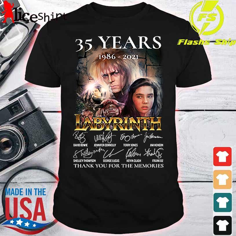 35 Years 1986 2021 Labyrinth thank You for the memories signature shirt