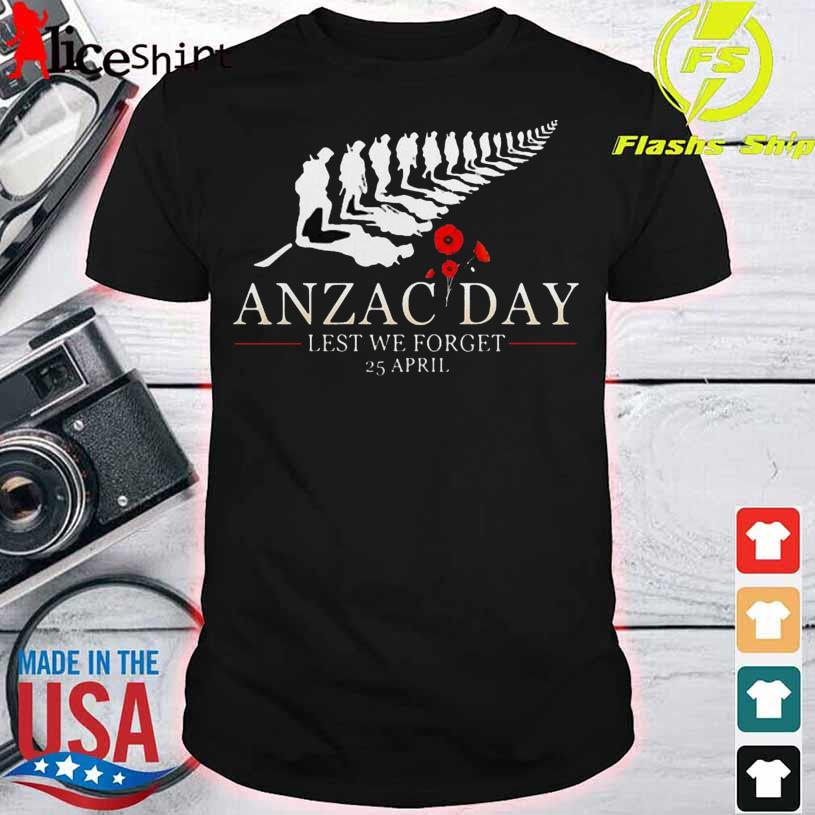 Anzac Day Lest We Forget 25 April Flowers Shirt