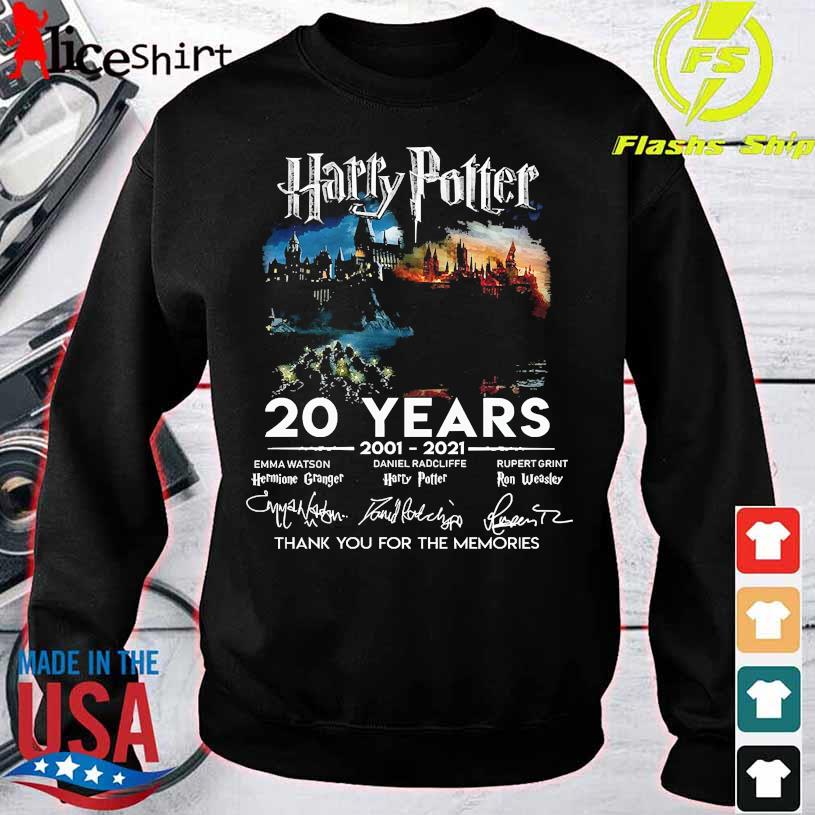 Harry Potter 20 Years 2001 2021 thank You for the memories signatures sweater
