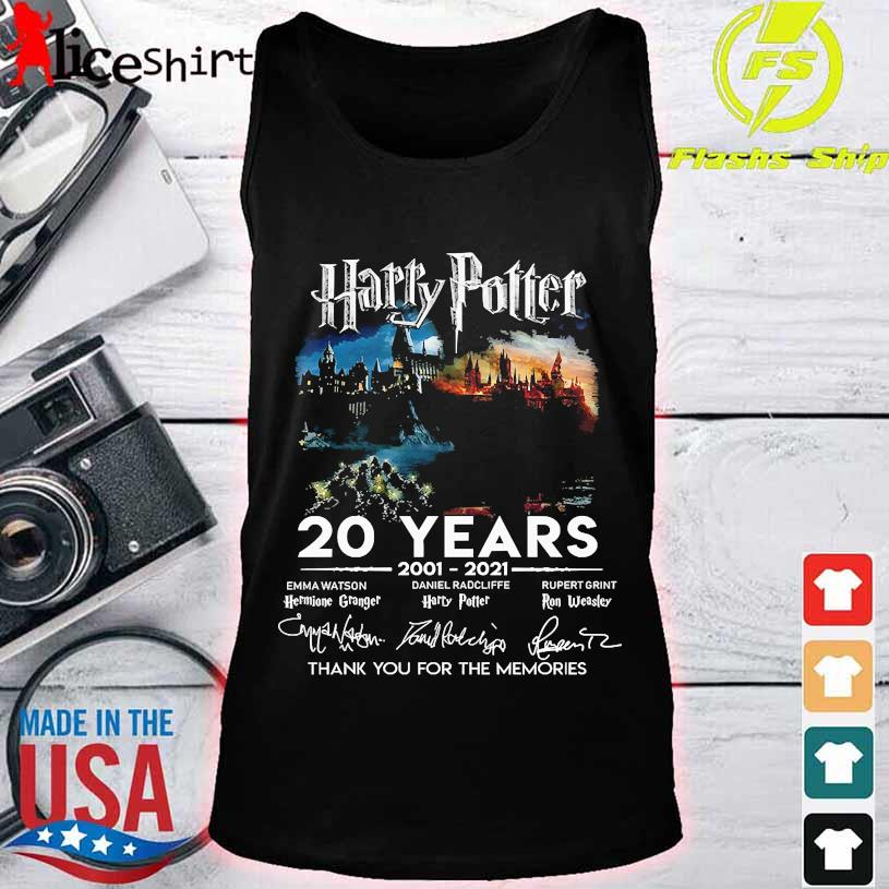 Harry Potter 20 Years 2001 2021 thank You for the memories signatures tank top