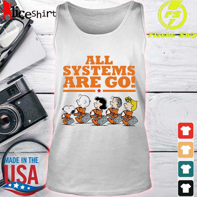 Snoopy Peanuts All Systems Are Go Shirt tank top