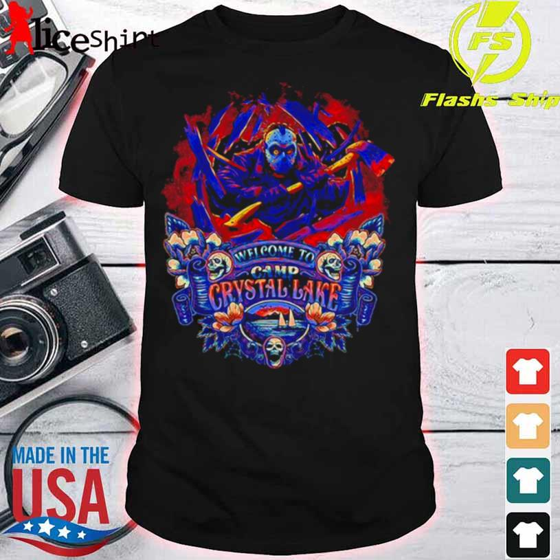 Jason Voorhees Welcome to camp Crystal Lake retro shirt