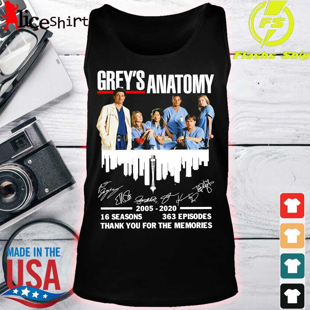 Grey's Anatomy 2025 2020 16 seasons 363 episodes thank You for the memories signatures Shirt tank top