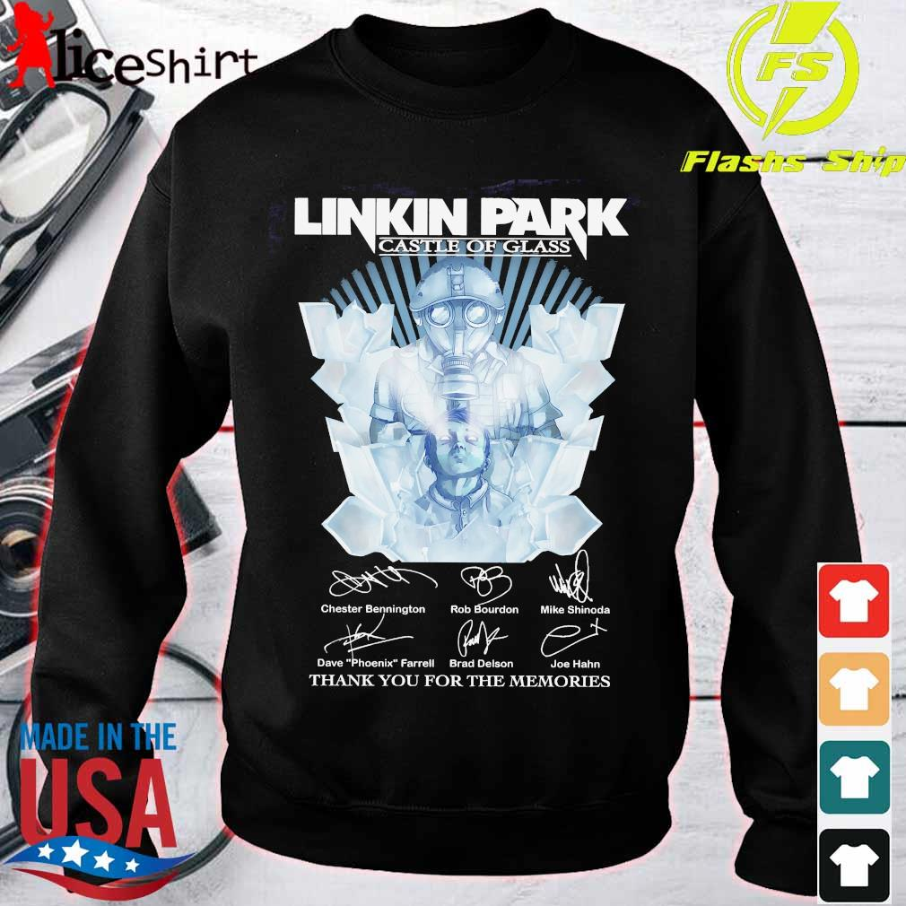 Linkin Park castle of glass thank You for the memories signatures Shirt sweater