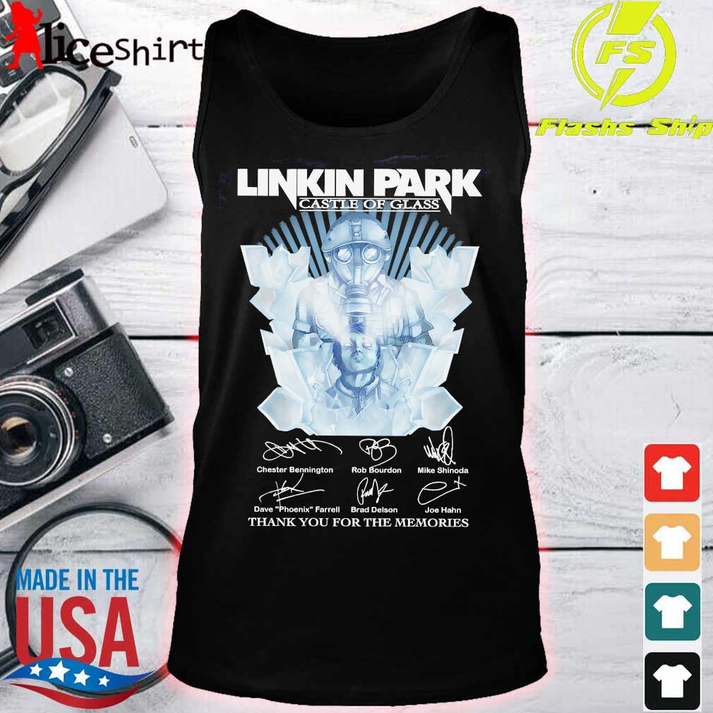 Linkin Park castle of glass thank You for the memories signatures Shirt tank top