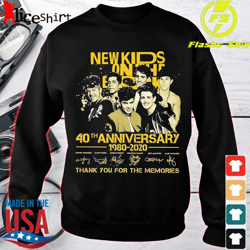 New Kids On The Block 40th anniversary 1980 2020 thank You for the memories signatures Shirt sweater