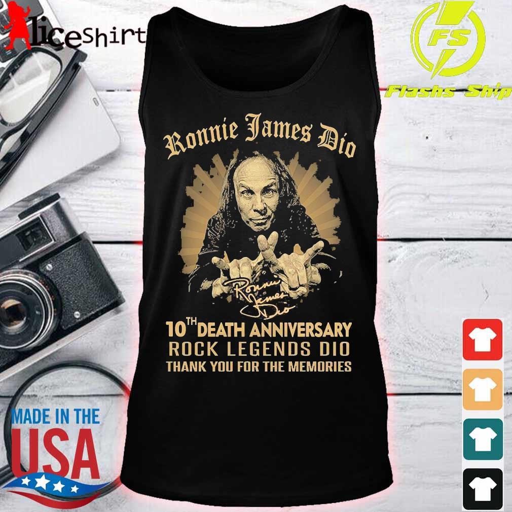 Ronnie James Dio 10th death anniversary rock legends DIO thank You for the memories signature Shirt tank top