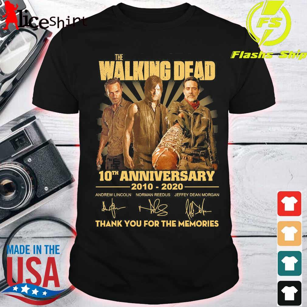 The Walking Dead 10th anniversary 2010 2020 thank You for the memories signatures Shirt