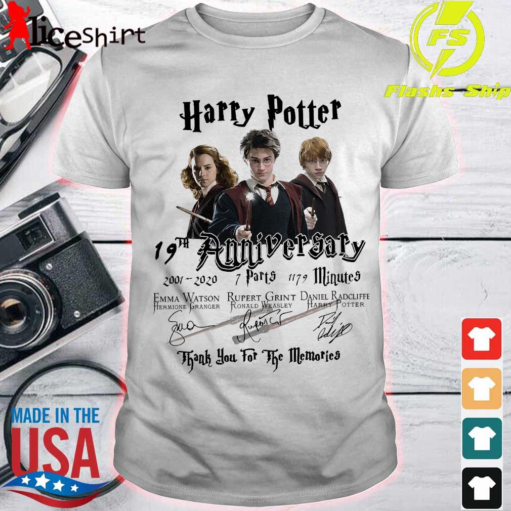 Harry Potter 19th anniversary thank You for the memories signatures shirt