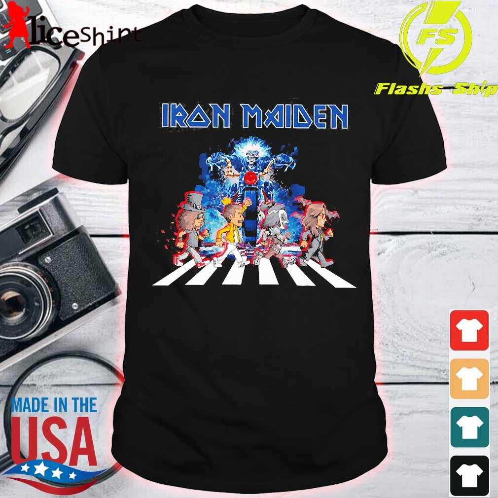 Iron Maiden band members abbey road shirt