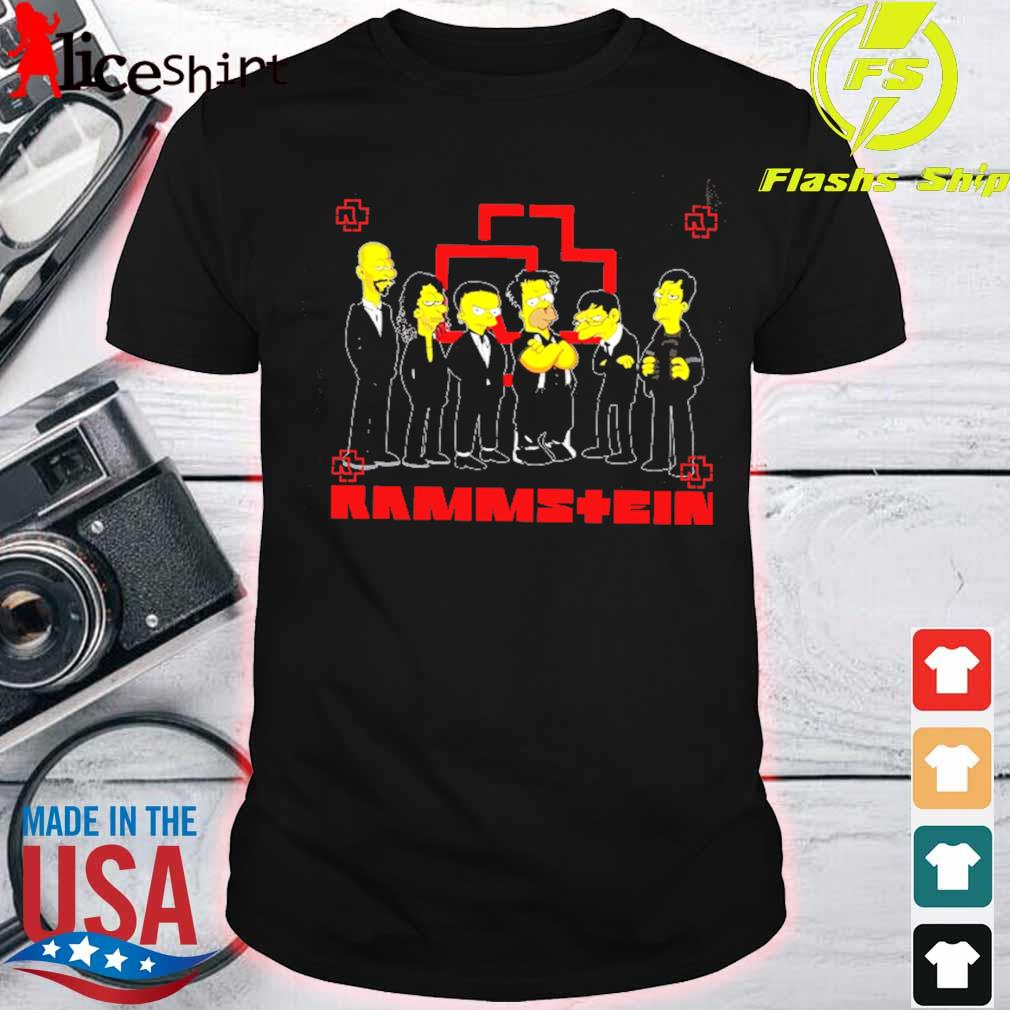 Official The Simpsons Rammstein shirt