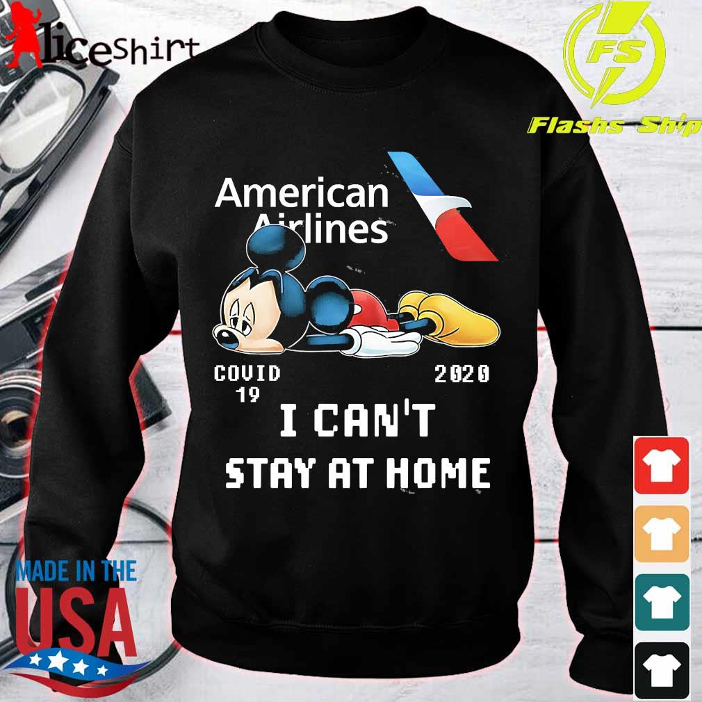 American Airlines Mickey Mouse covid 19 2020 I can't stay at home s sweater