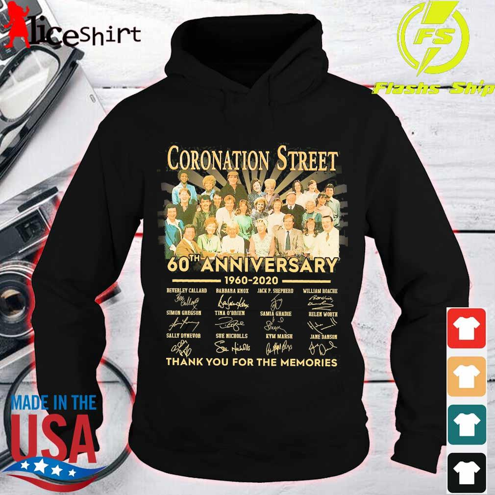 Coronation Street 60th anniversary 1960 2020 thank You for the memories signatures s hoodie