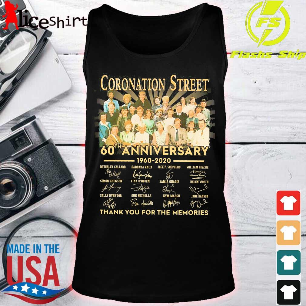 Coronation Street 60th anniversary 1960 2020 thank You for the memories signatures s tank top