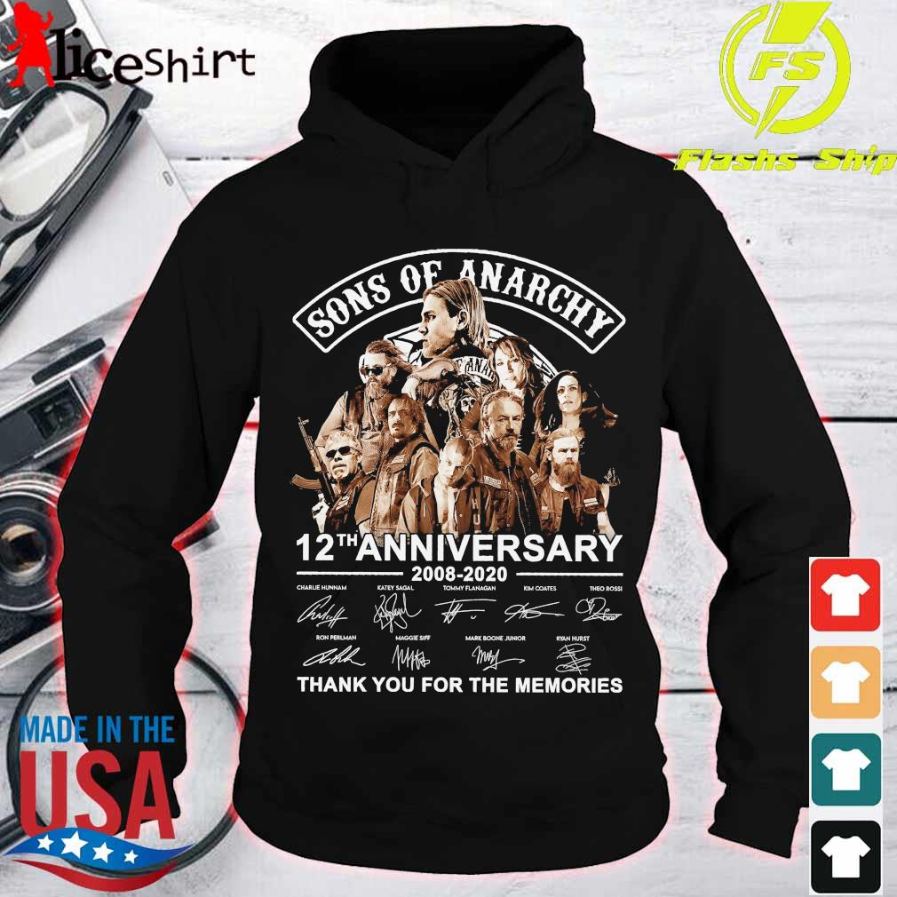 Sons of Anarchy 12th anniversary 2008 2020 thank You for the memories signatures s hoodie