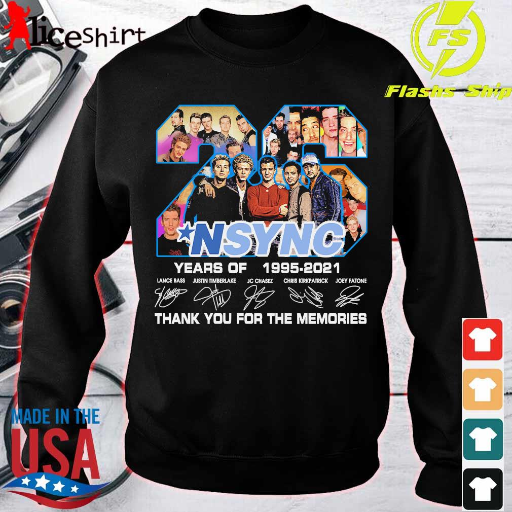 NSYNC 26 years of 1995 2021 thank You for the memories signatures s sweater